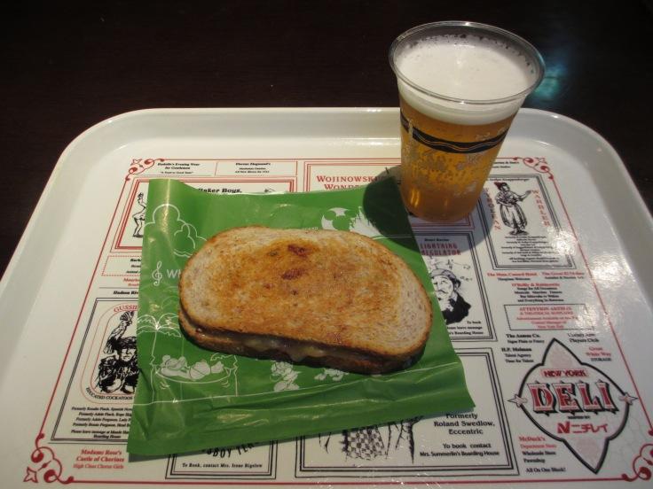Ruben sandwich and a Sapporo of course