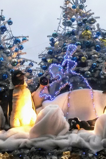 Penguins at Stuttgart Christmas Market