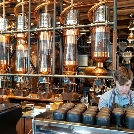 Barista and copper bar