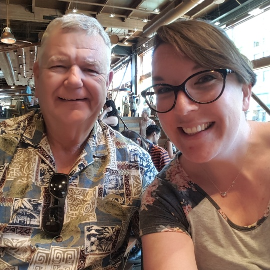 Dad and I - coffee nerds