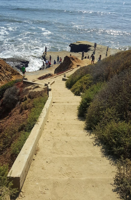Stairs down to the tide pools