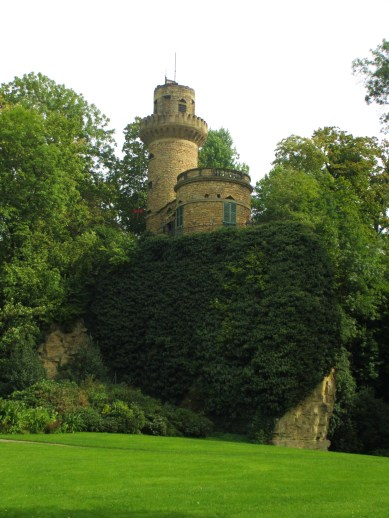 Rapunzel's tower compete with descending hair