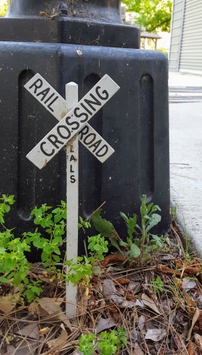 The tiniest of Railroad Crossings