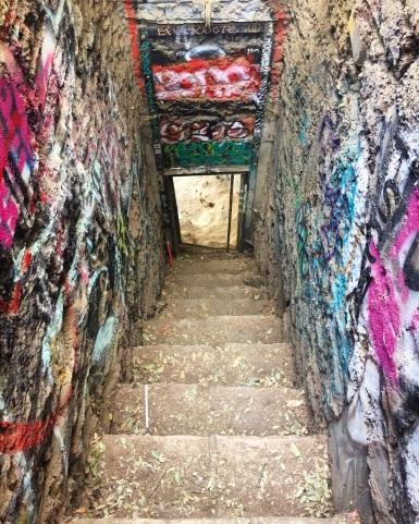 Creepy enclosed stairway