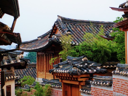 Traditional tile rooftops