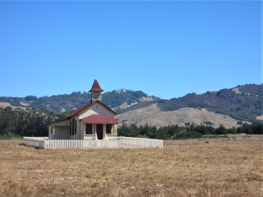 Cute little school house in San Simeon