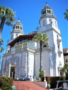 The front of Hearst Castle
