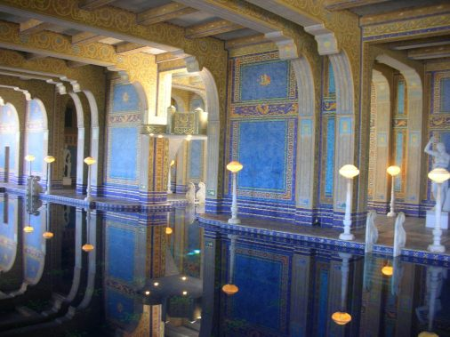 Underground pool at Hearst Castle