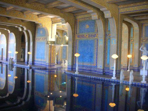 Underground pool at Hearst Castle