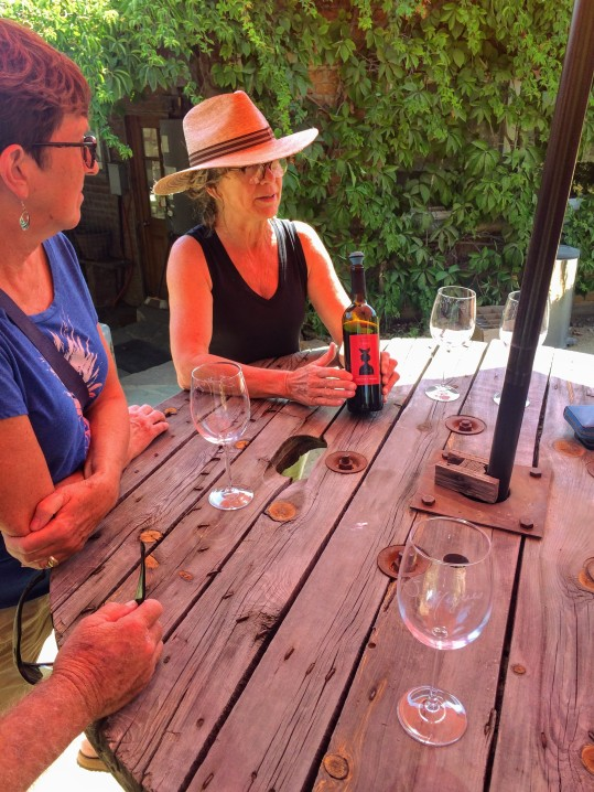 Explaining the wine making process