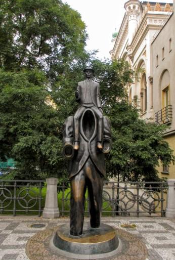 Franz Kafka statue by Jaroslav Róna