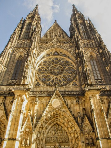 Facade of St Vitus Cathedral