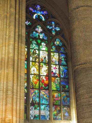 Stained Glass in St Vitus Cathedral