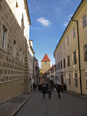 Golden Lane in Prague Castle