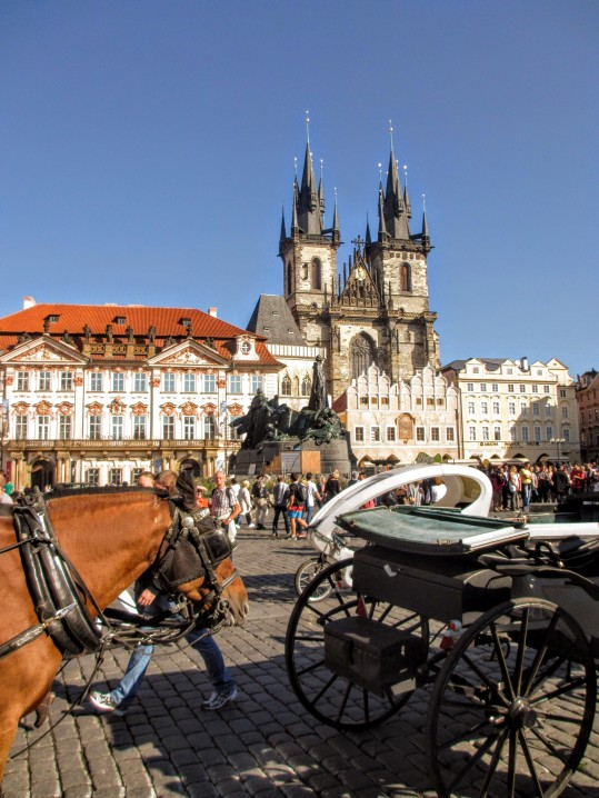 Church of Our Lady before Týn from Old Town Square, Prague