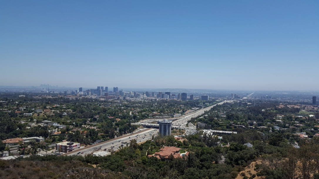 The view of LA from the Getty