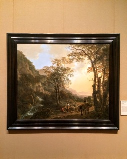 """Jan Both """"Landscape with a Peasant Woman on a Mule"""""""